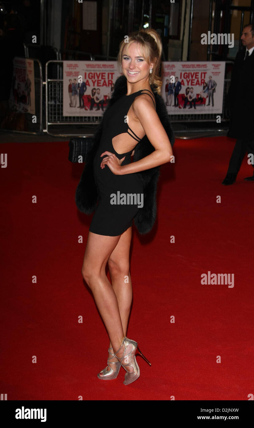 KIMBERLEY GARNER I GIVE IT A YEAR. UK FILM PREMIERE LONDON ENGLAND UK 24 January 2013 - Stock Image