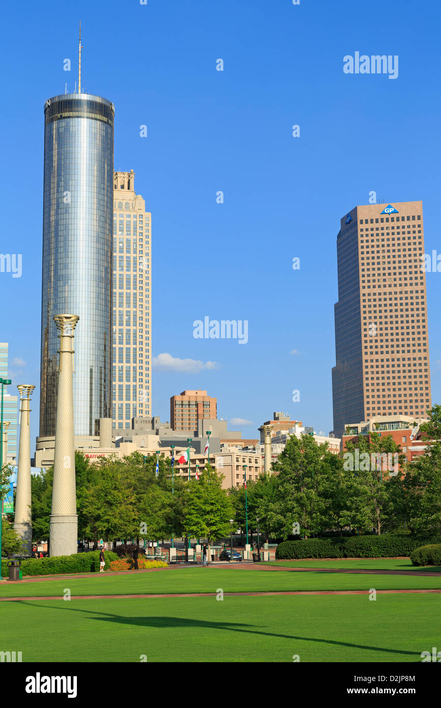 Centennial Olympic Park,Atlanta,Georgia,USA - Stock Image
