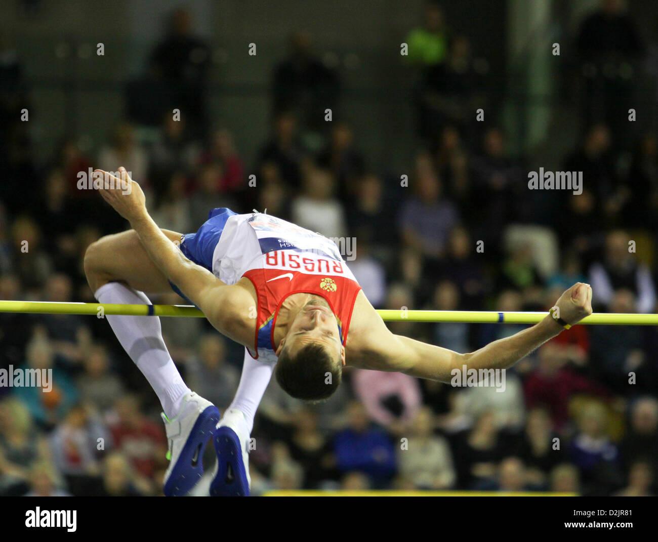 Glasgow, UK. 26th January 2013. Aleksey Dmitrik Russia 26.01.2013 British Athletics Glasgow International Match - Stock Image