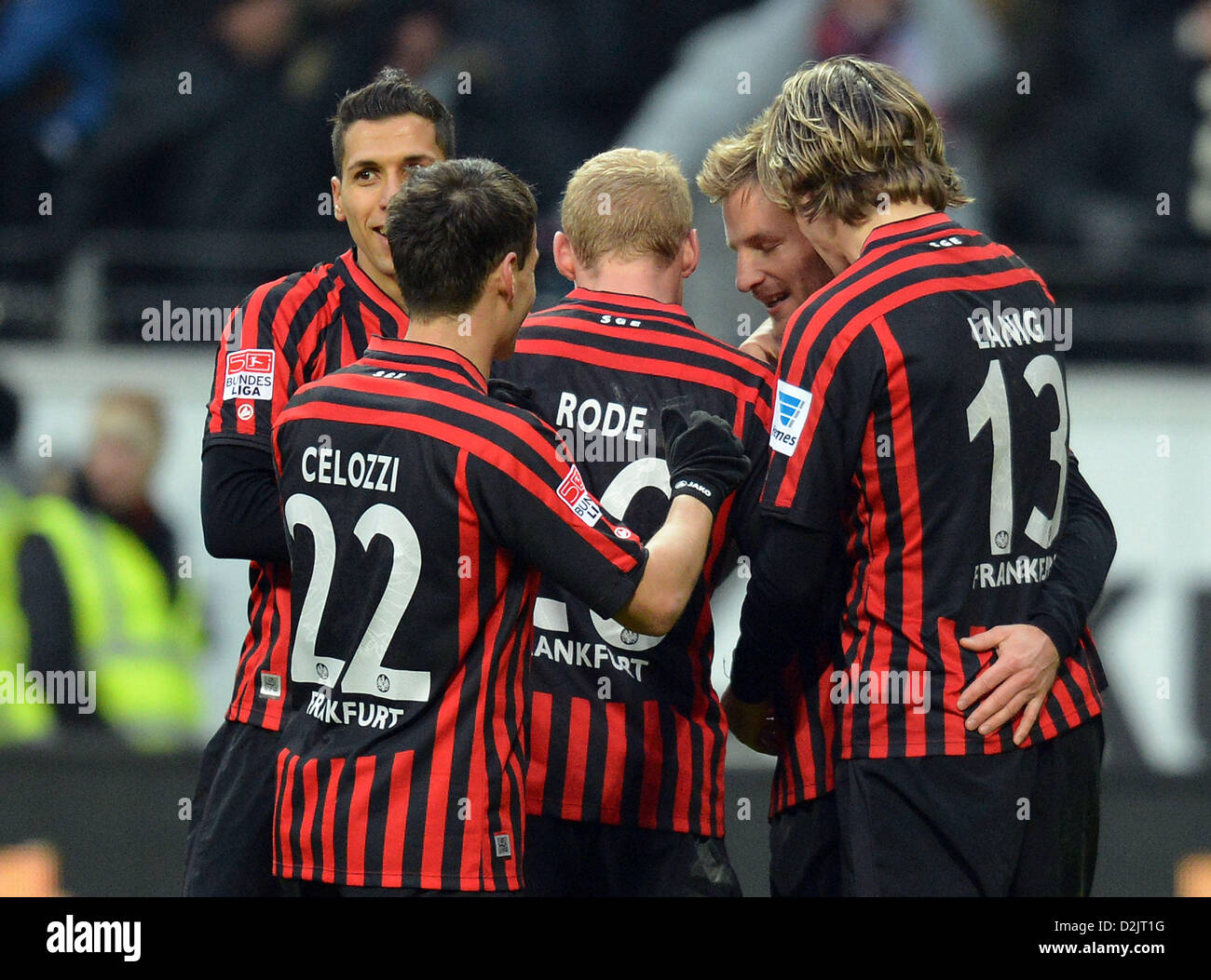 26.01.2013,xjhx, 1.Bundesliga, Eintracht Frankfurt - TSG 1899 Hoffenheim, v.l. Stefan Aigner (Eintracht Frankfurt) - Stock Image