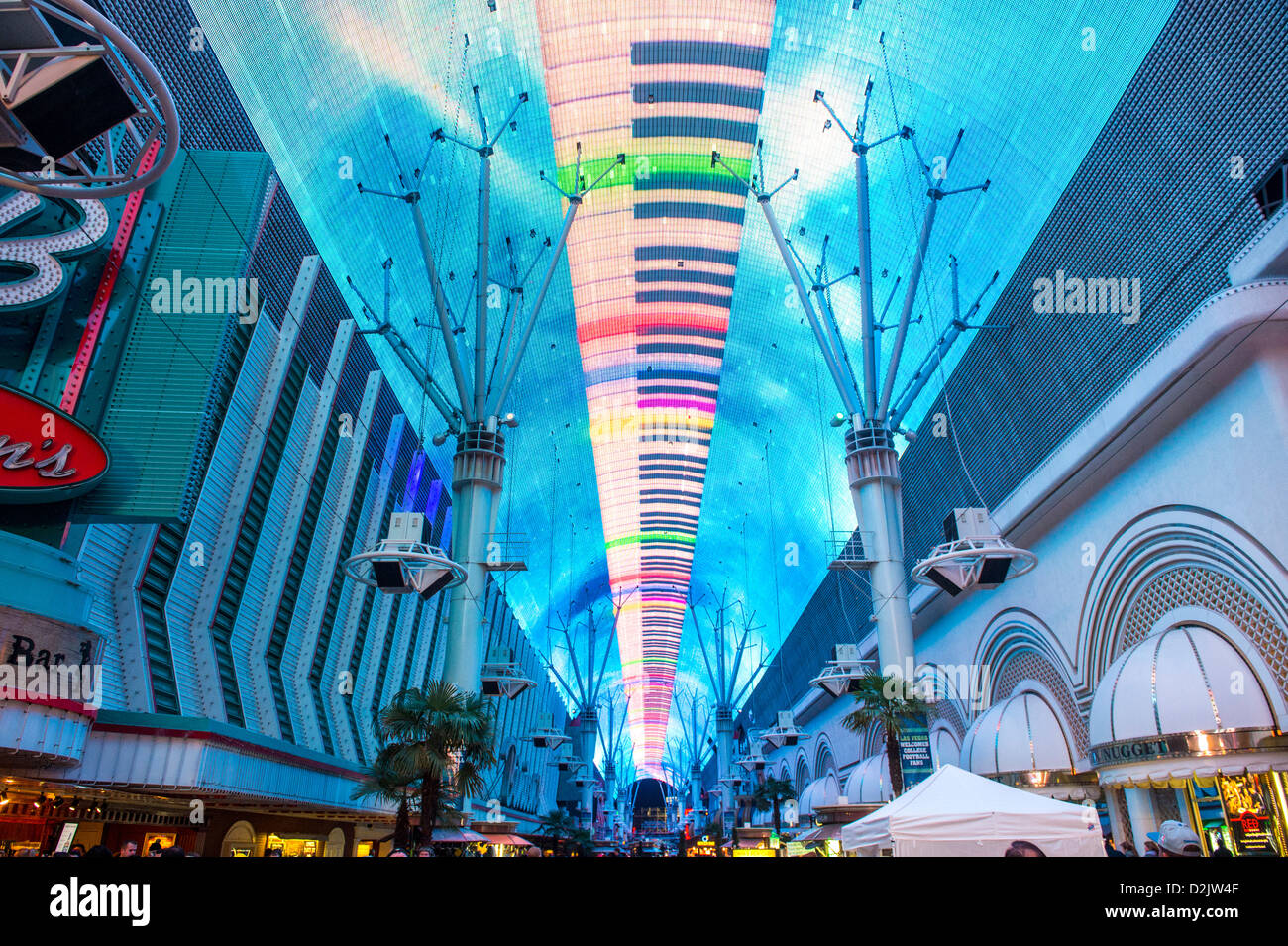 Fremont Street Experience In Downtown Stock Photos & Fremont Street ...