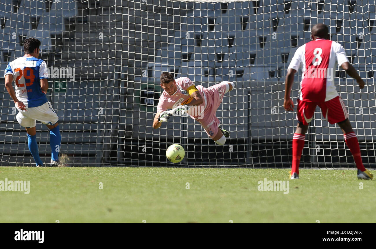 CAPE TOWN, South Africa - Saturday 26 January 2013, Grasshopper Club Zurich goalkeeper Roman Burki during the soccer/football - Stock Image