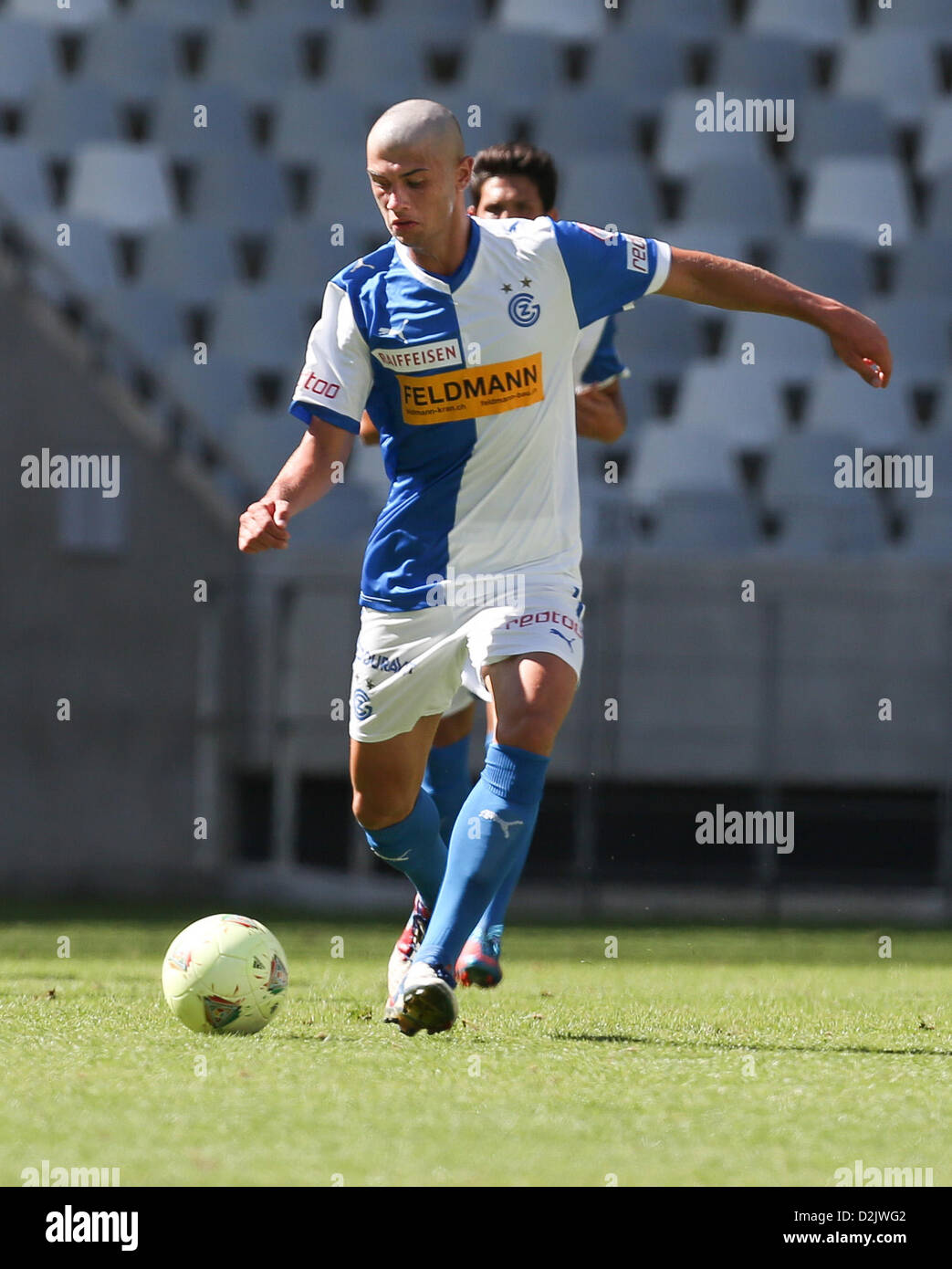 CAPE TOWN, South Africa - Saturday 26 January 2013, Ibrahim Samardzic of Grasshopper Club Zurich during the soccer/football - Stock Image