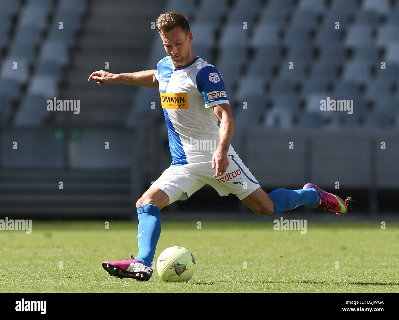 CAPE TOWN, South Africa - Saturday 26 January 2013, Daniel Pavlovic of Grasshopper Club Zurich during the soccer/football - Stock Image