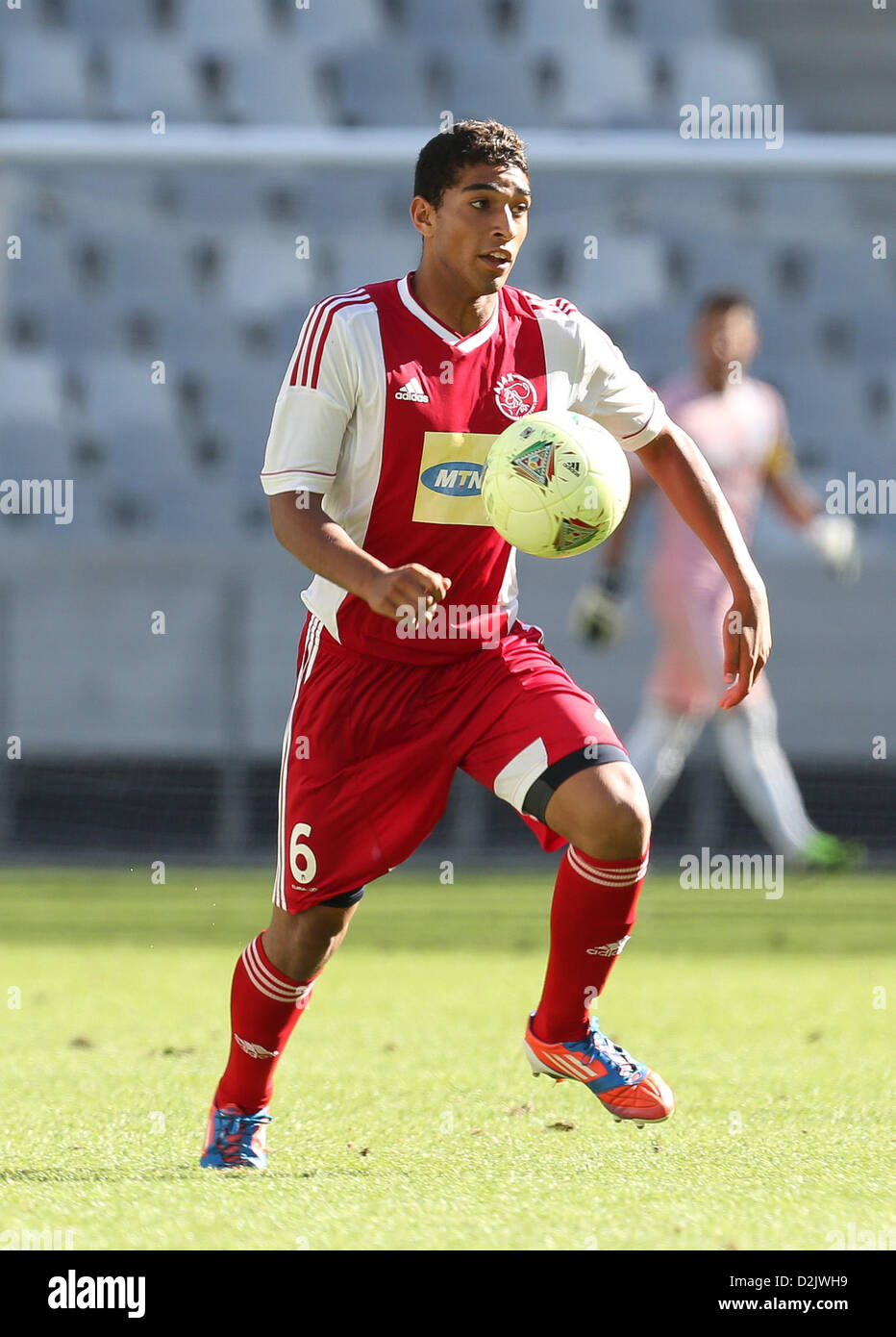 CAPE TOWN, South Africa - Saturday 26 January 2013, Travis Graham of Ajax Cape Town during the soccer/football match - Stock Image