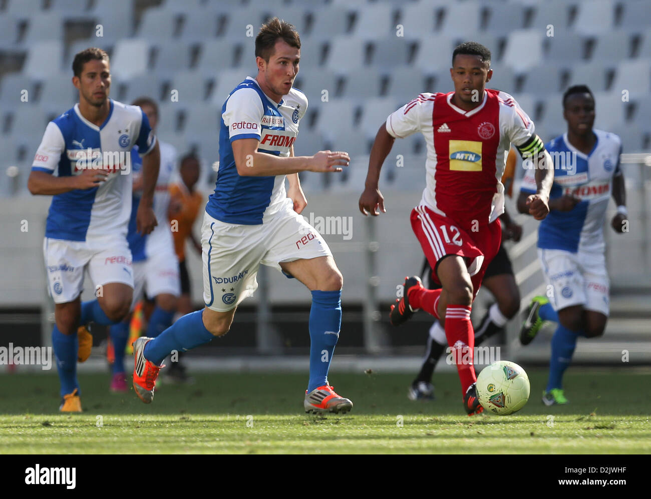 CAPE TOWN, South Africa - Saturday 26 January 2013, Izet Hajrovic of Grasshopper Club Zurich during the soccer/football - Stock Image