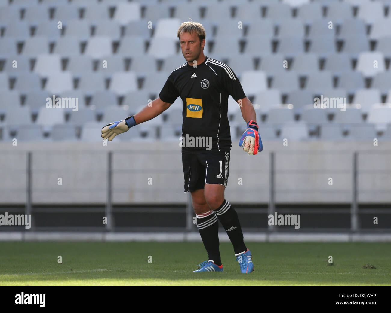 CAPE TOWN, South Africa - Saturday 26 January 2013, Sander Westerfield (gk) of Ajax Cape Town during the soccer/football - Stock Image