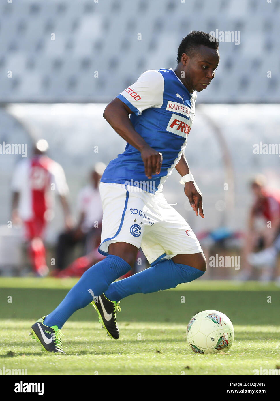CAPE TOWN, South Africa - Saturday 26 January 2013, Nzuzi Toko of Grasshopper Club Zurich during the soccer/football - Stock Image