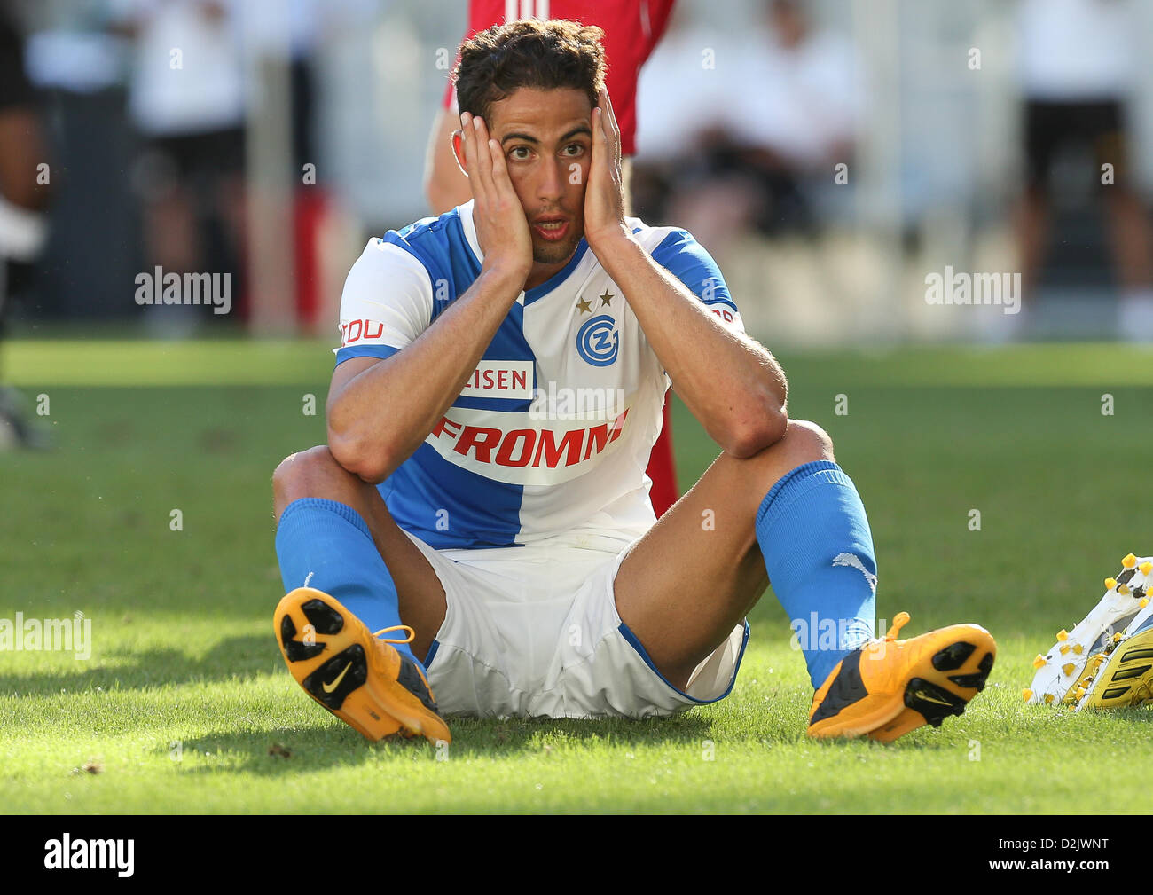 CAPE TOWN, South Africa - Saturday 26 January 2013, Nassim Ben Khalifa of Grasshopper Club Zurich during the soccer/football - Stock Image