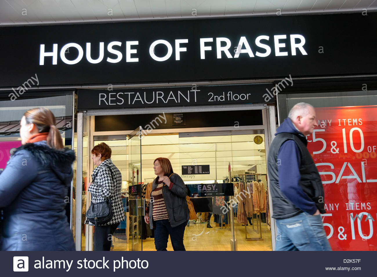 House of Fraser shop in Cwmbran, South Wales, UK. - Stock Image