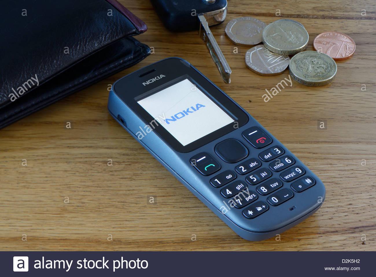 Nokia 100 mobile phone, Dorset, England - Stock Image