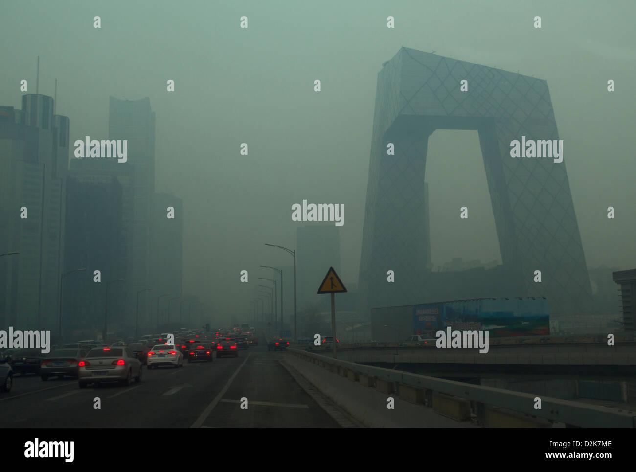 Air pollution in Beijing. 27-Jan-2013 - Stock Image