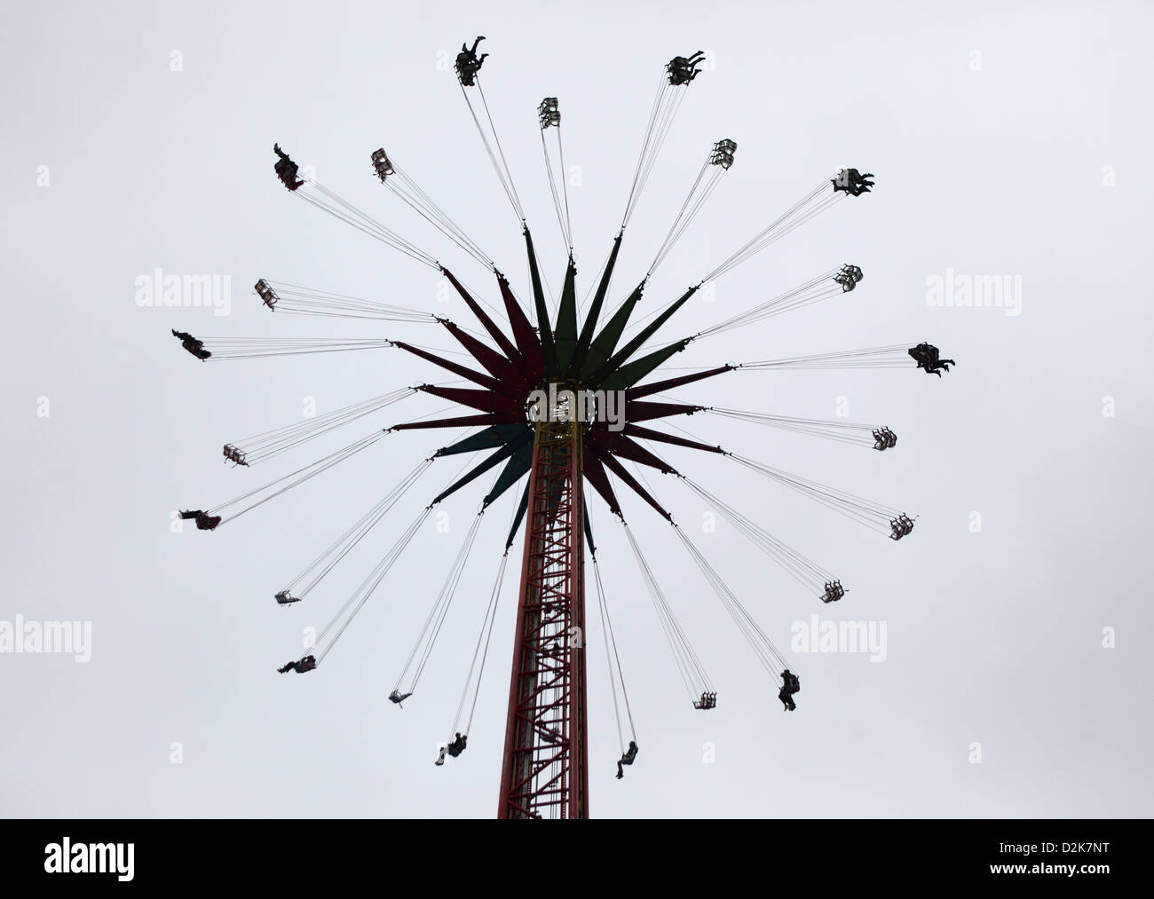 Berlin, Germany, people in a whirligig - Stock Image