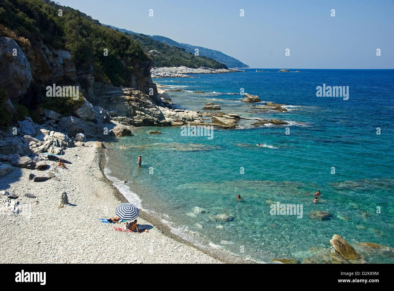 Aegean Bay (Pelion Peninsula, Thessaly, Greece) Stock Photo