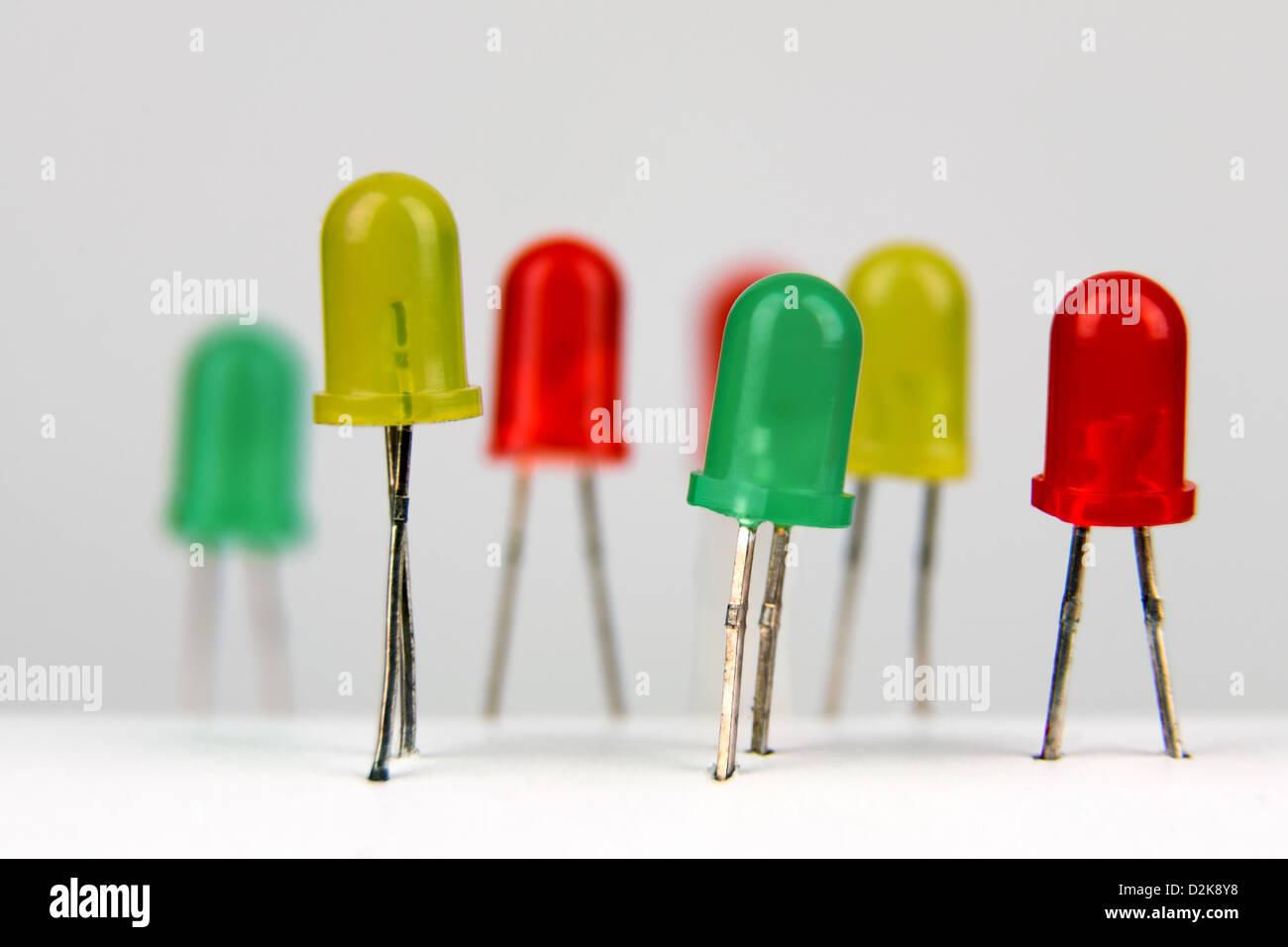 LED bulbs - Stock Image