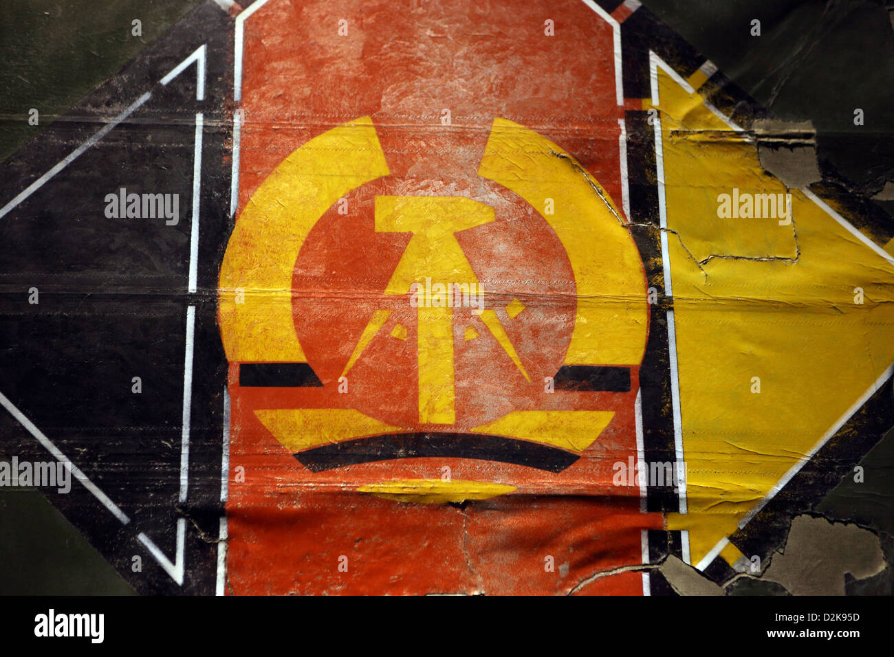 Berlin, Germany, the national colors of the German Democratic Republic - Stock Image