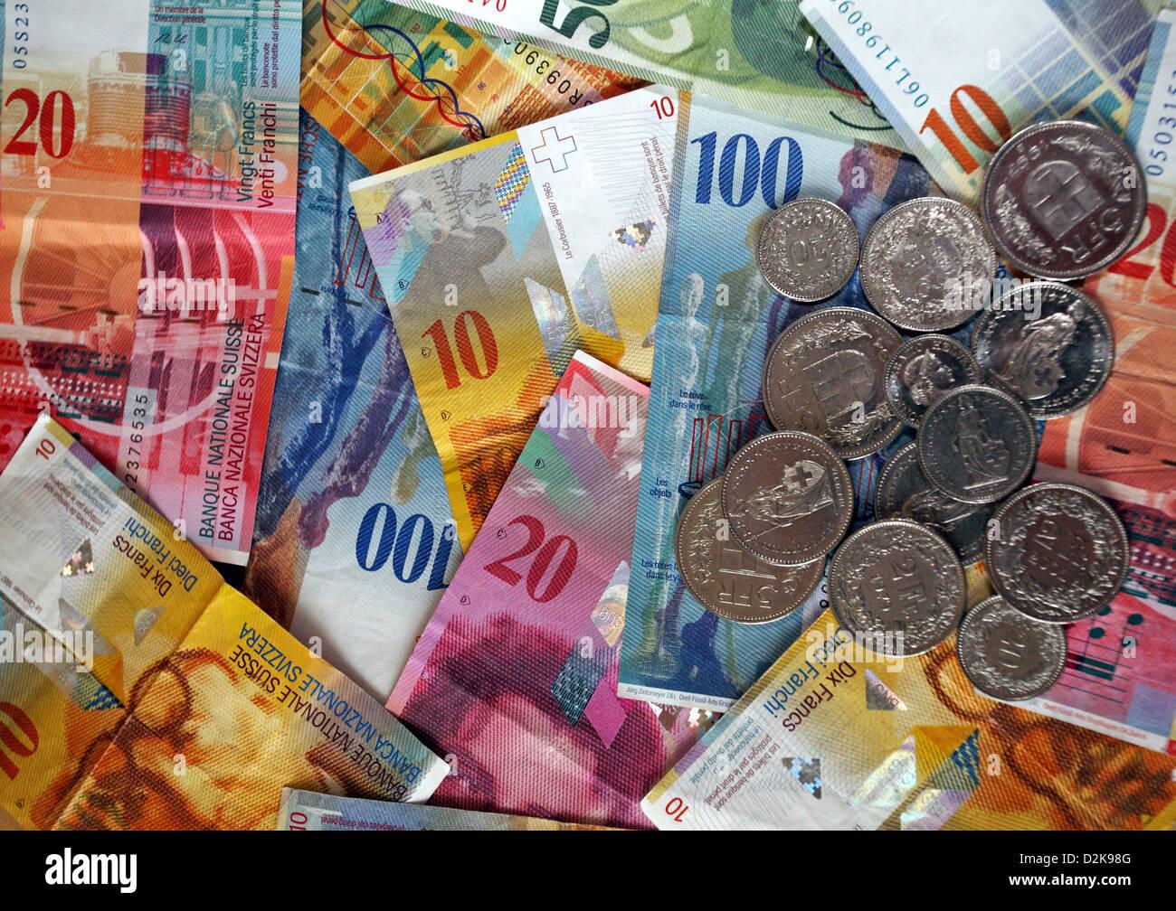 Swiss Francs - Stock Image