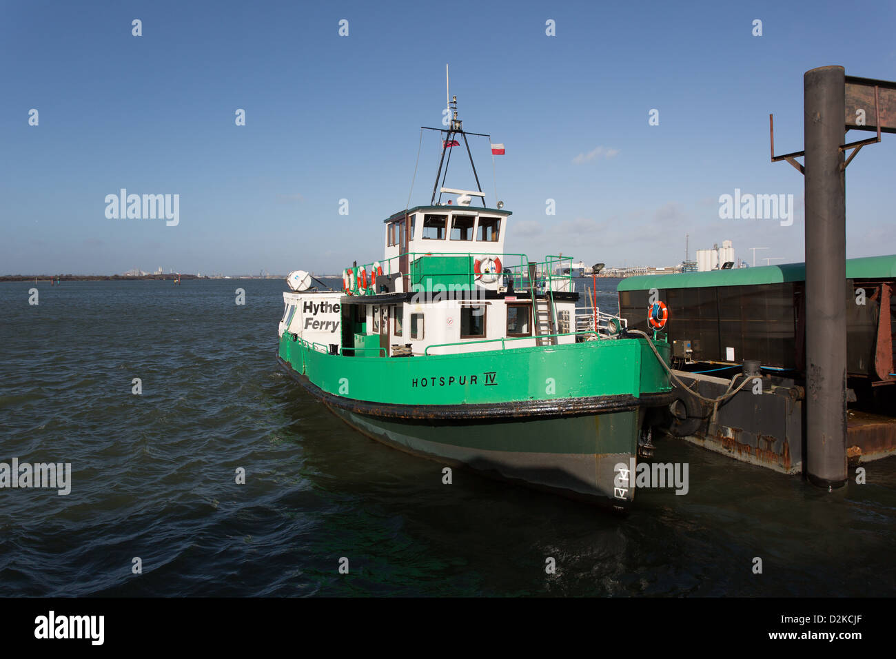 The Hythe Ferry, Southampton Water - Stock Image
