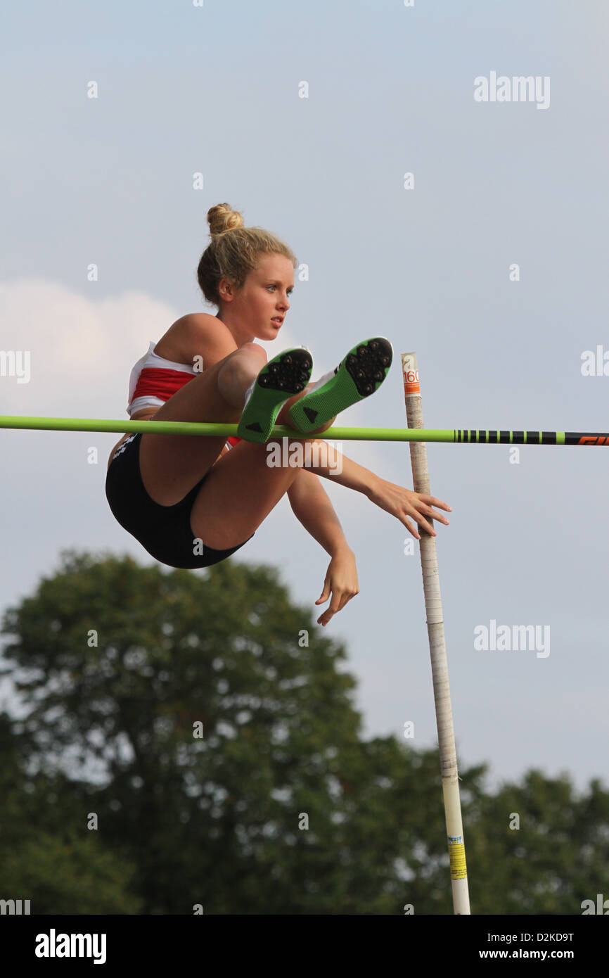 Lucy Bryan Pole-vaulter - Stock Image