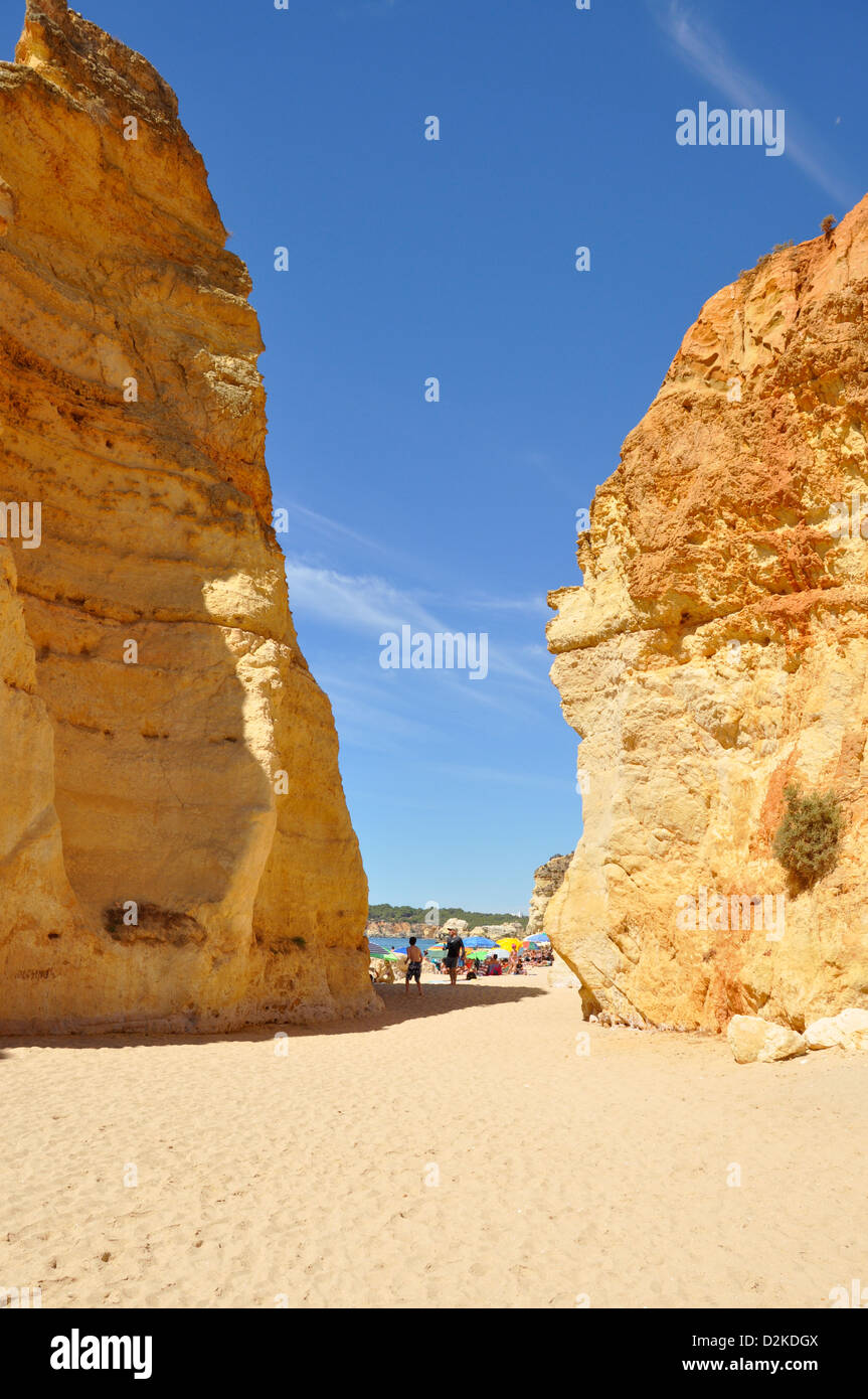 Praia de Rocha, Portimão, Portimao Municipality, Faro District, Algarve Region, Portugal - Stock Image