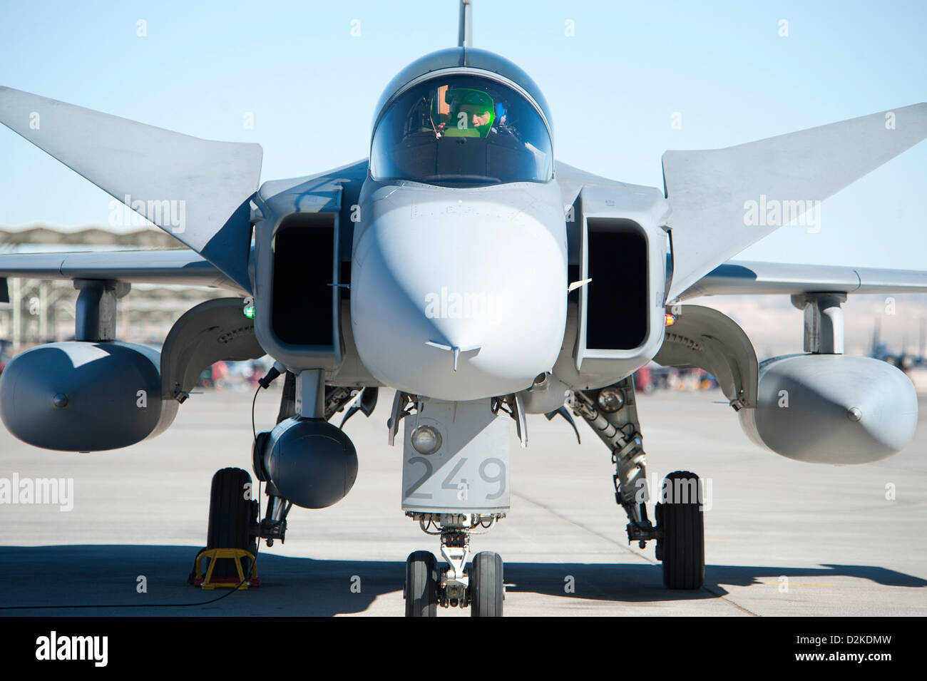Saab JAS-39C Gripen Nellis Air Force Base red flag - Stock Image