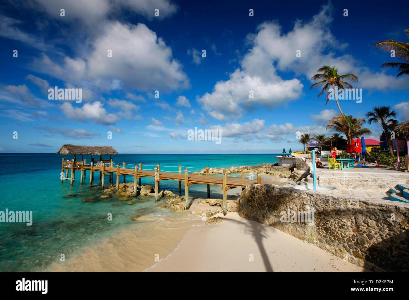 Nassau Bahamas beach at Compass point resort - Stock Image