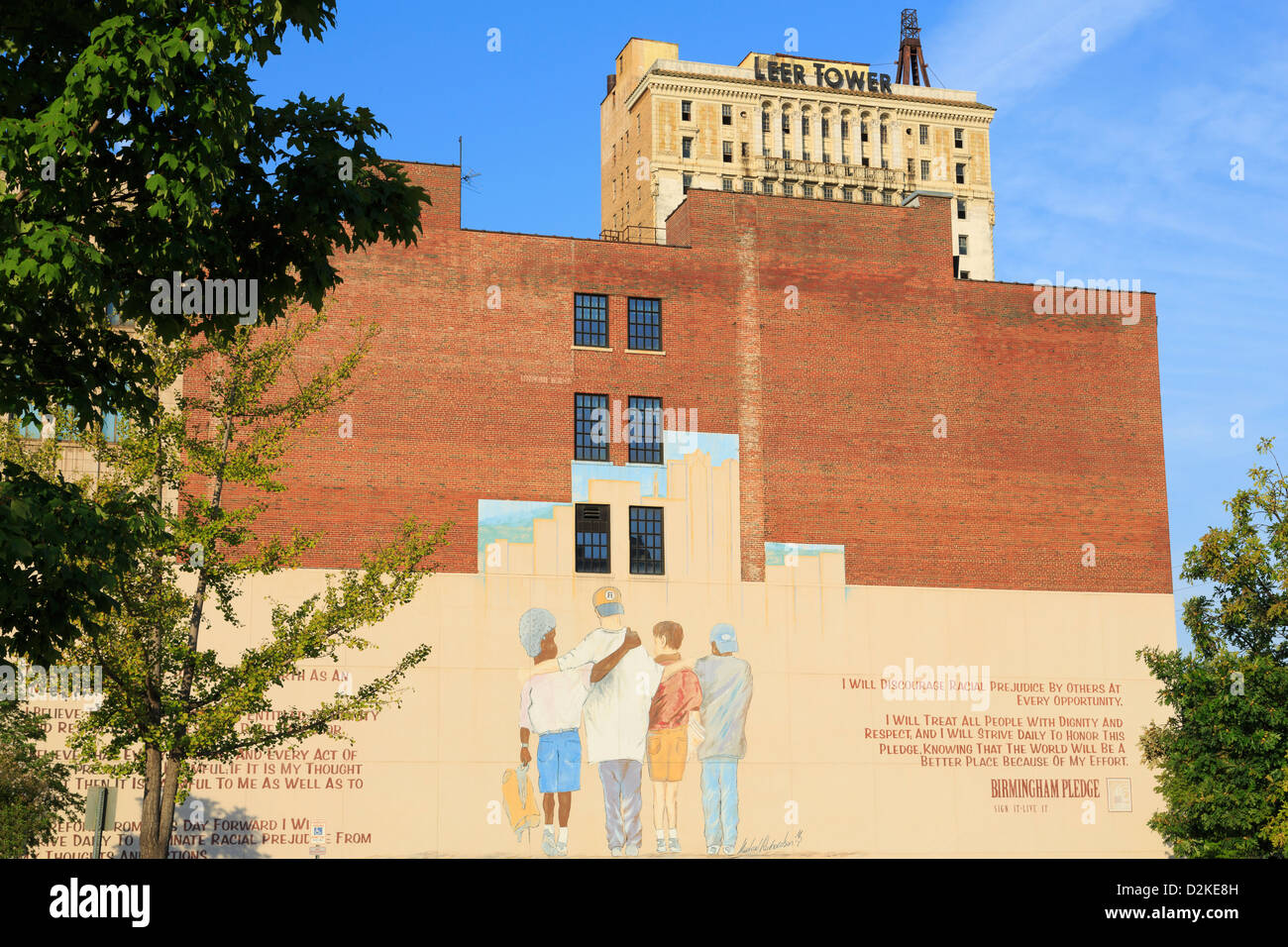The Pledge mural by Michael Richardson,Birmingham,Alabama,USA - Stock Image
