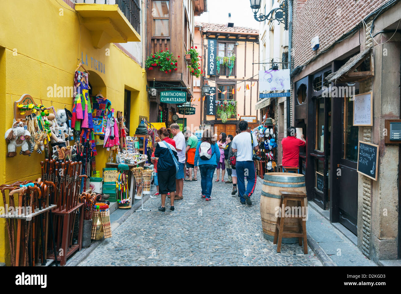 old town of Potes in Picos de Europa National Park, Spain - Stock Image