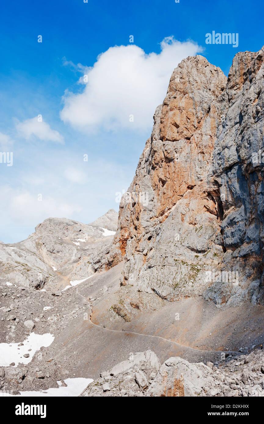 Picos de Europa National Park, shared by the provinces of Asturias, Cantabria and León, Spain - Stock Image