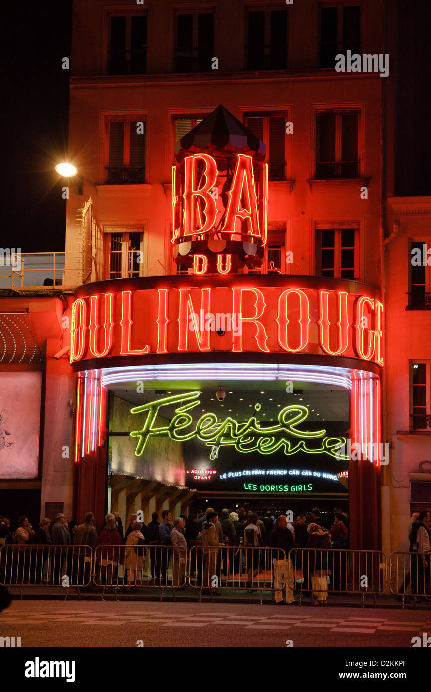 Moulin Rouge in Paris - Stock Image