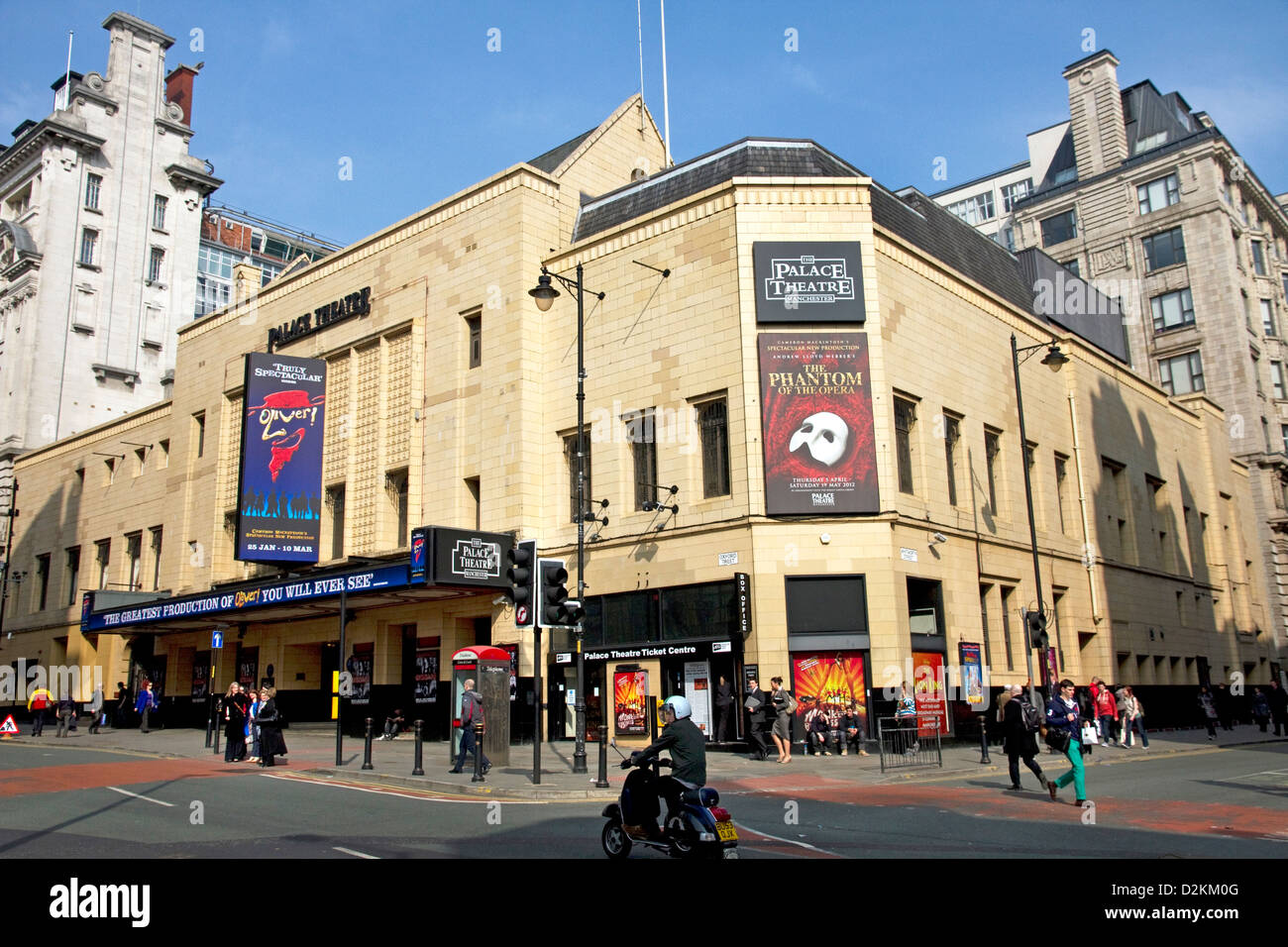 Palace Theatre, Oxford Street, city centre, Manchester, England, UK - Stock Image