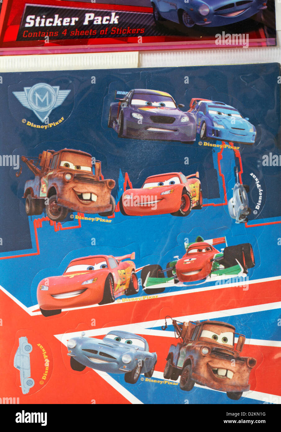 Disney Pixar Sheet Of Stickers For Cars