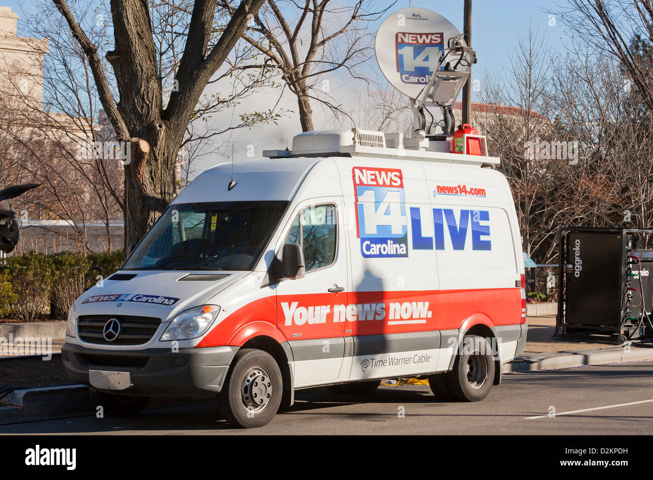Usa News Live >> Live News Tv Satellite Truck Usa Stock Photo 53295133 Alamy