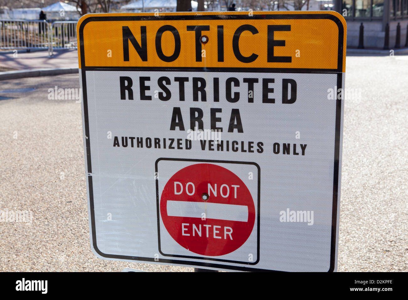 Restricted area sign - Stock Image
