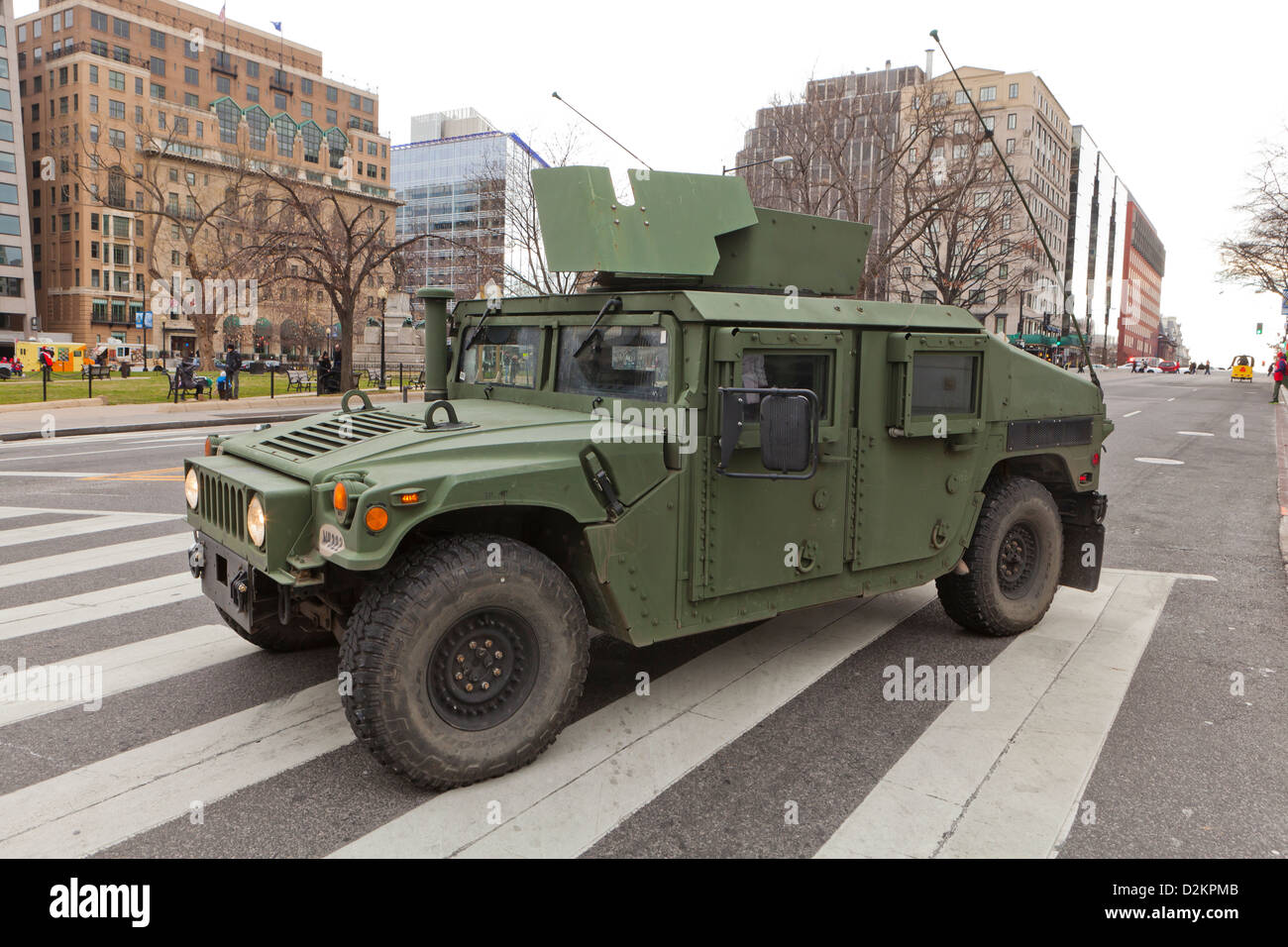 US military Humvee truck - Washington, DC USA Stock Photo: 53295323
