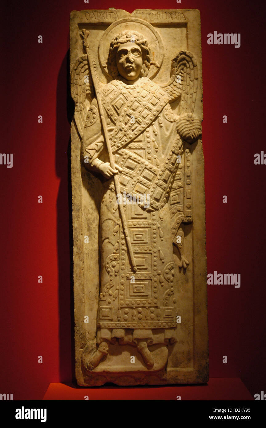 Archangel Michael. Relief. 13th century. From Constantinople. Pergamon Museum. Berlin. Germany. - Stock Image