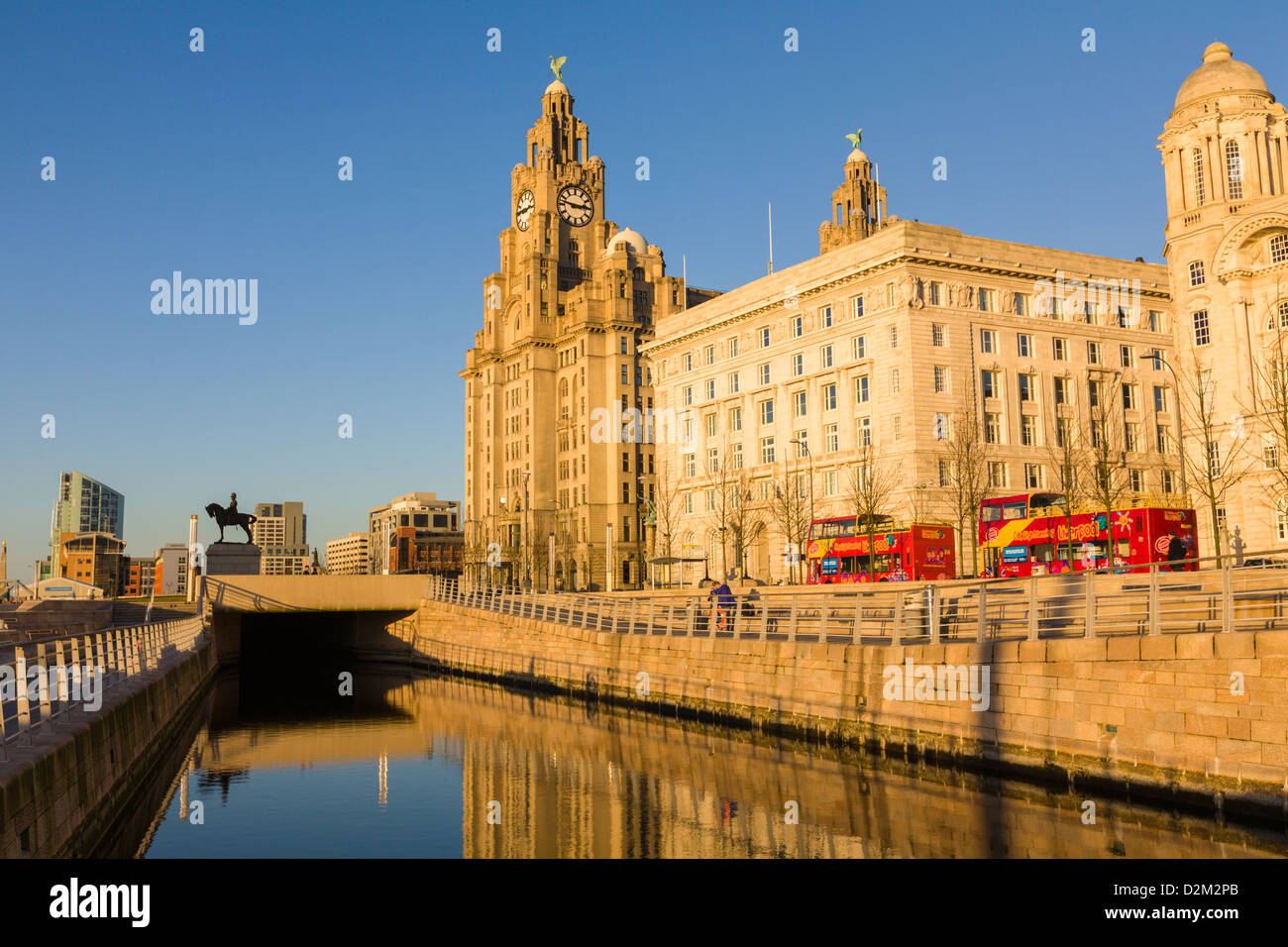 Liver Buildings, Liverpool, England - Stock Image