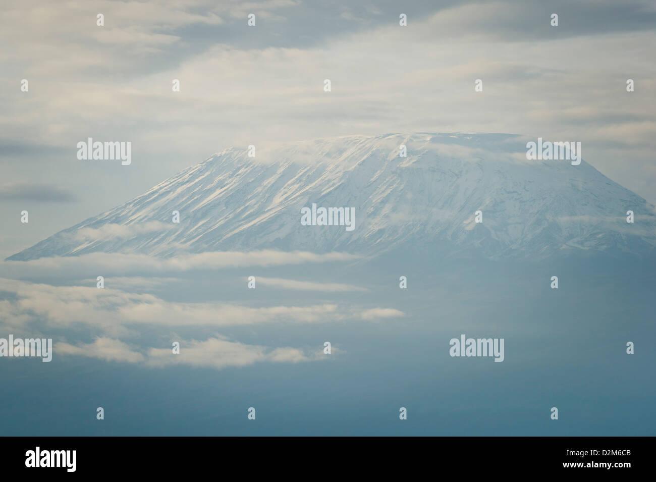 Mount Kilimanjaro, Amboseli National Park, Kenya - Stock Image
