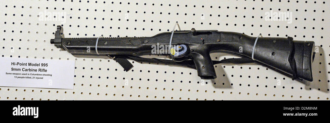 A Hi-Point Model 995 9mm Carbine Rifle displayed at the