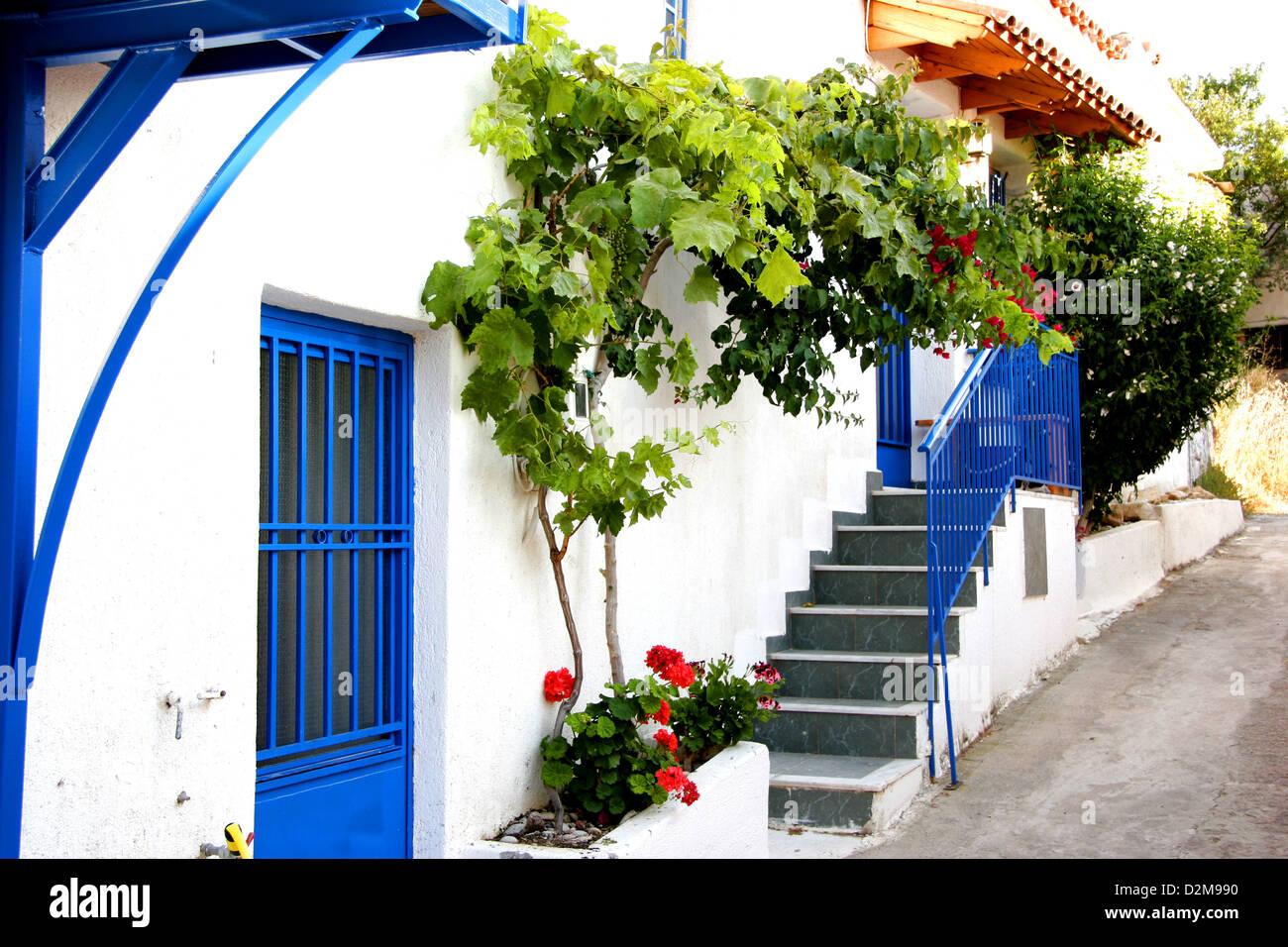 White House In Crete Blue Stock Photos & White House In Crete Blue ...