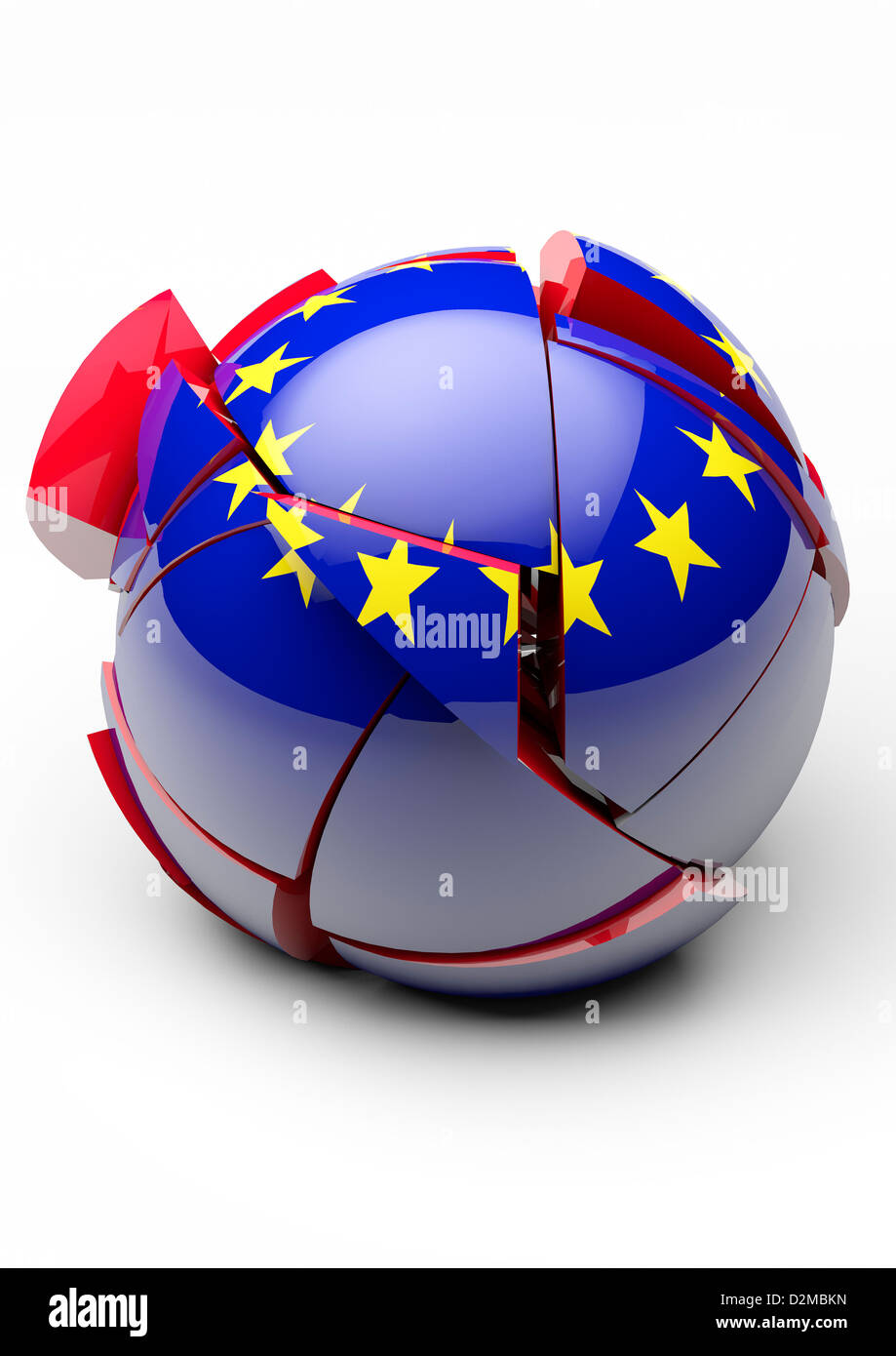 EU Eurozone crisis break up / referendum Brexit political Europe, European Union  concept - Stock Image