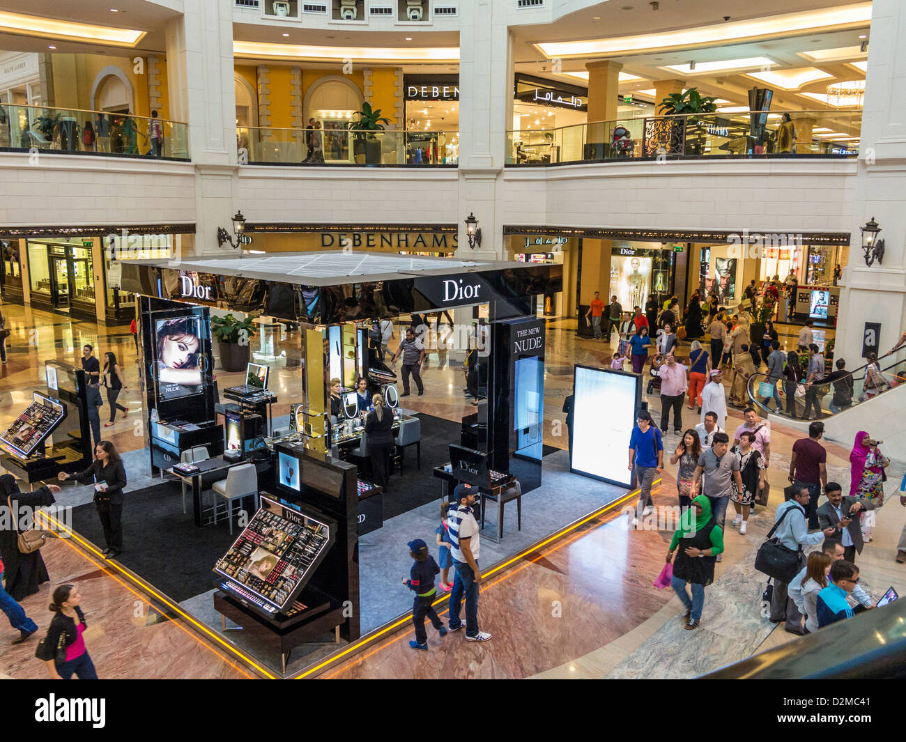 The shopping Mall of the Emirates, shopping centre, Dubai - Stock Image
