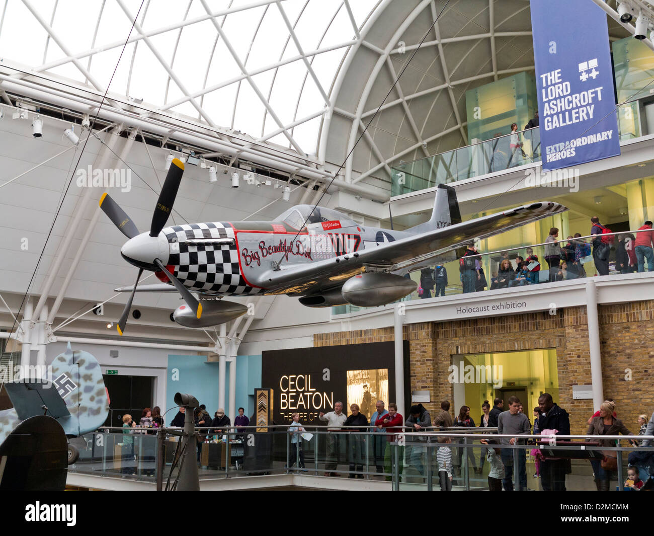 One of the planes on display at the Imperial War Museum, London - Stock Image