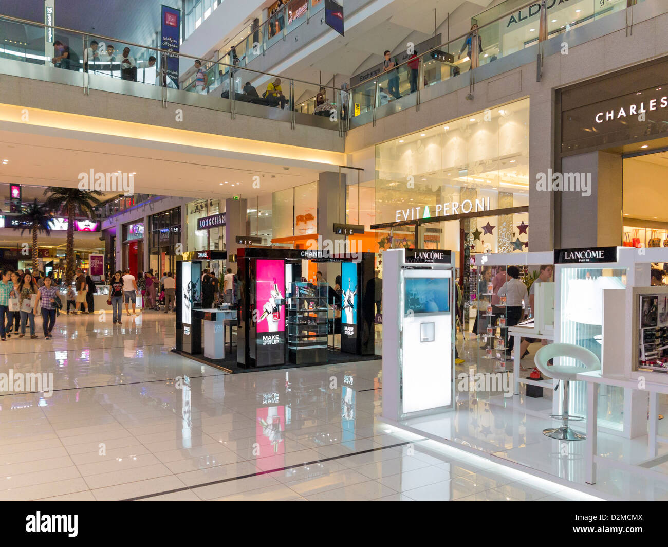 The Dubai Mall - The world's largest shopping mall, shopping centre - Stock Image