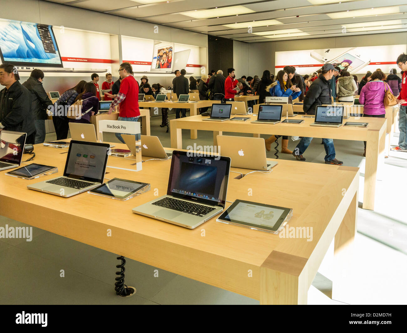 Apple Store at the IFC centre, Hong Kong - Stock Image