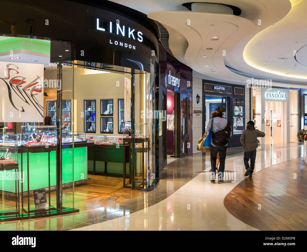 Links of London store in the Hysan Place Shopping Centre, Hong Kong - Stock Image