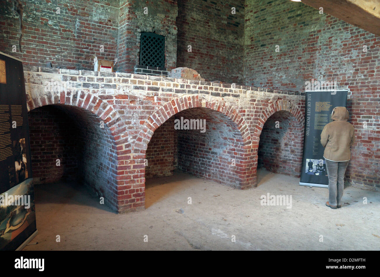Inside the Brew House after restoration in Bushy Park, Hampton Court Road, Hampton, Middlesex, UK. - Stock Image