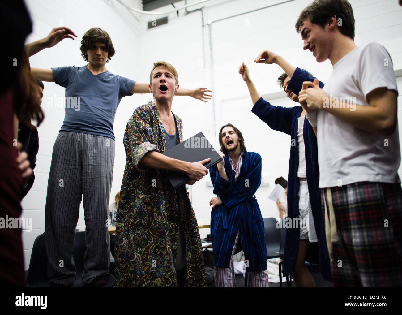 An amateur student production of One Flew Over the Cuckoos Nest, Aberystwyth University, UK - Stock Image