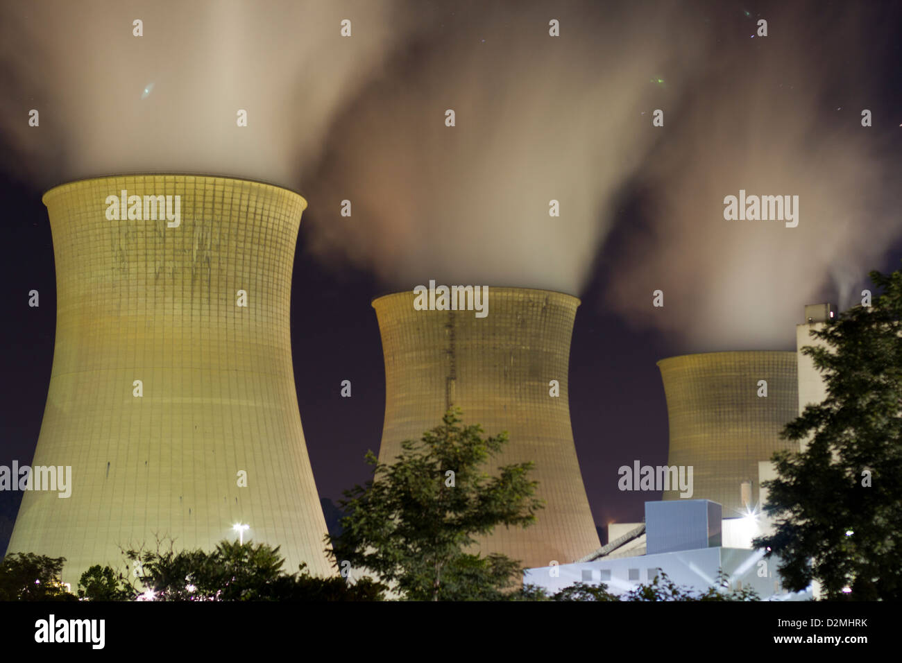 Beaver County Nuclear Power Plant - Stock Image