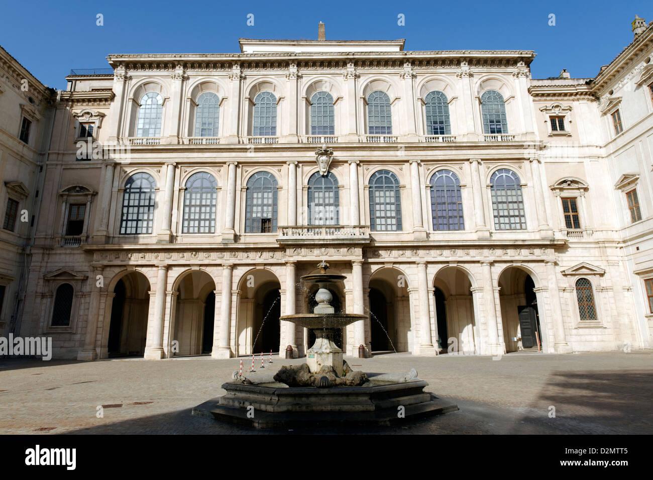 Rome. Italy. View of the Baroque 17th century Palazzo Barberini on Via Barberini in Quirinale. - Stock Image